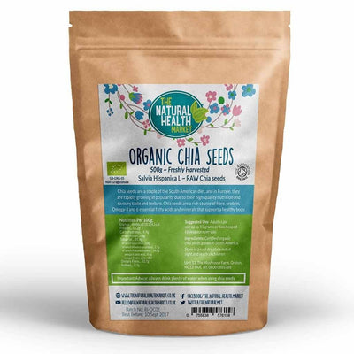 Organic Chia Seeds 500g By The Natural Health Market