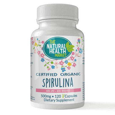 Organic spirulina 500mg 120 capsules By The Natural Health Market