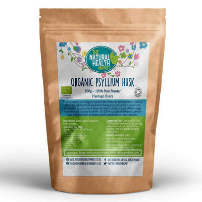 Organic Psyllium Husk Powder 800g By The Natural Health Market