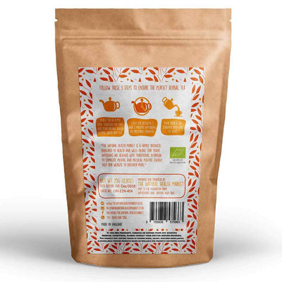 Organic Turmeric Root Tea (Curcuma Longa) 25g By The Natural Health Market