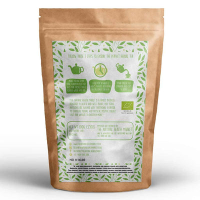 Organic ginger and lemongrass tea loose leaf 100g By The Natural Health Market