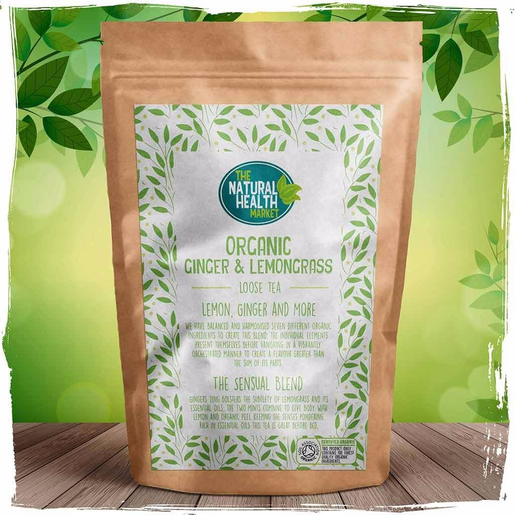 Organic ginger and lemongrass tea loose leaf By The Natural Health Market