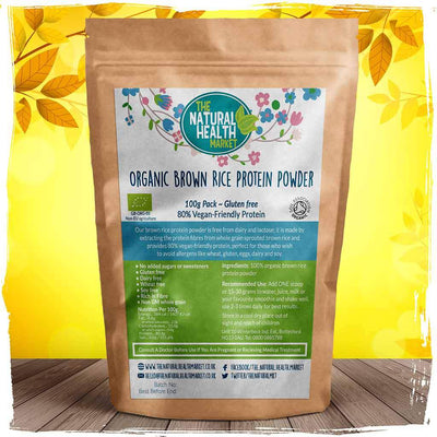 Organic Brown Rice Protein 100g By The Natural Health Market
