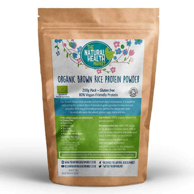 Organic Brown Rice Protein 200g By The Natural Health Market