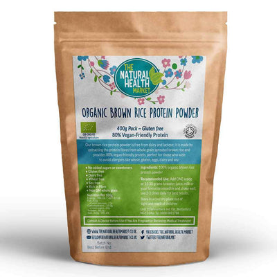 Organic Brown Rice Protein 400g By The Natural Health Market