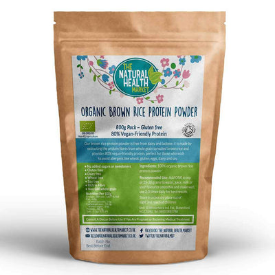 Organic Brown Rice Protein 800g By The Natural Health Market