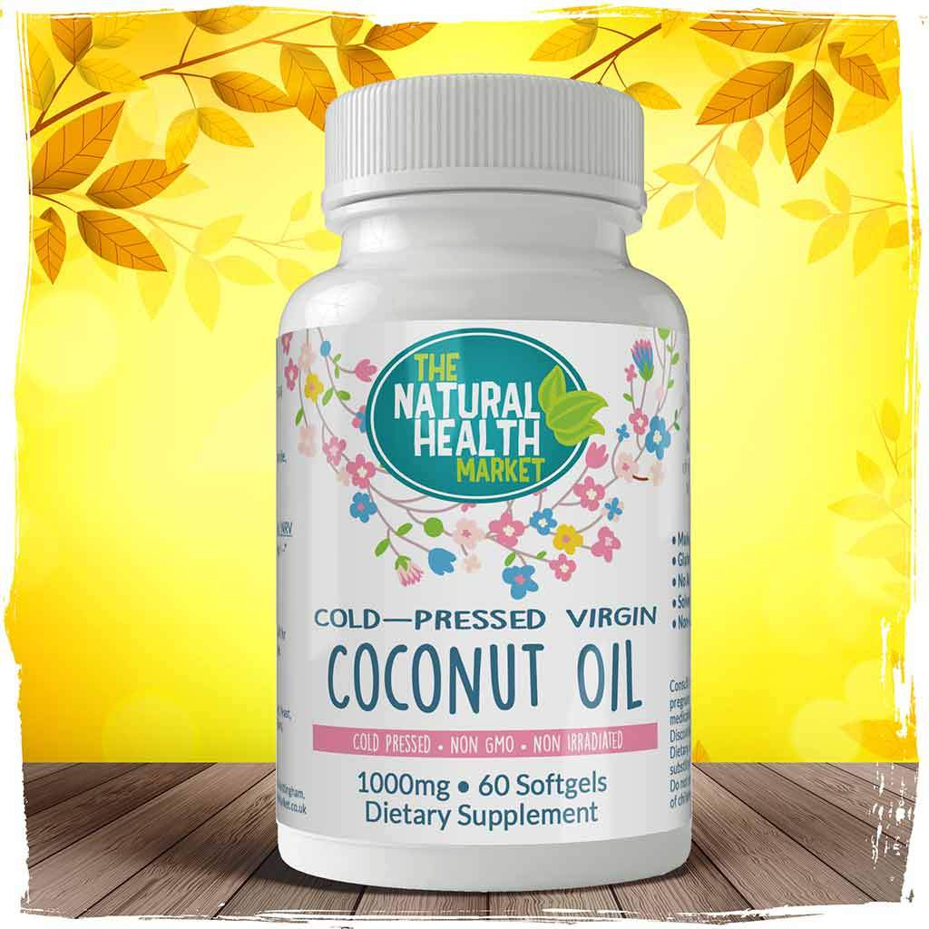 Cold-Pressed Virgin Coconut Oil Capsules 60 by The Natural Health Market