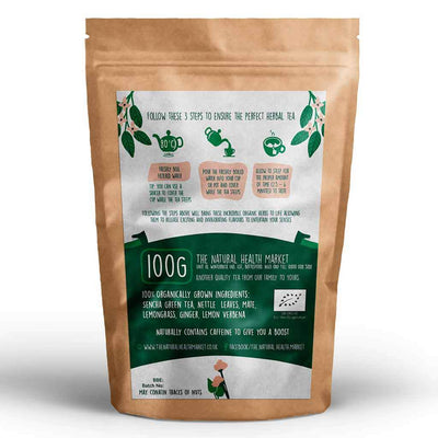 Organic eclectic green tea 100g by The Natural Health Market