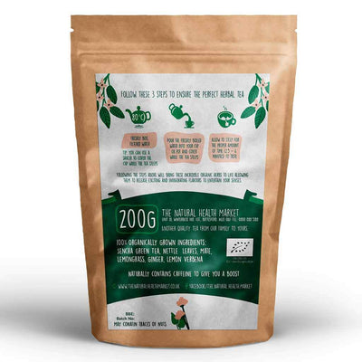 Organic eclectic green tea 200g by The Natural Health Market