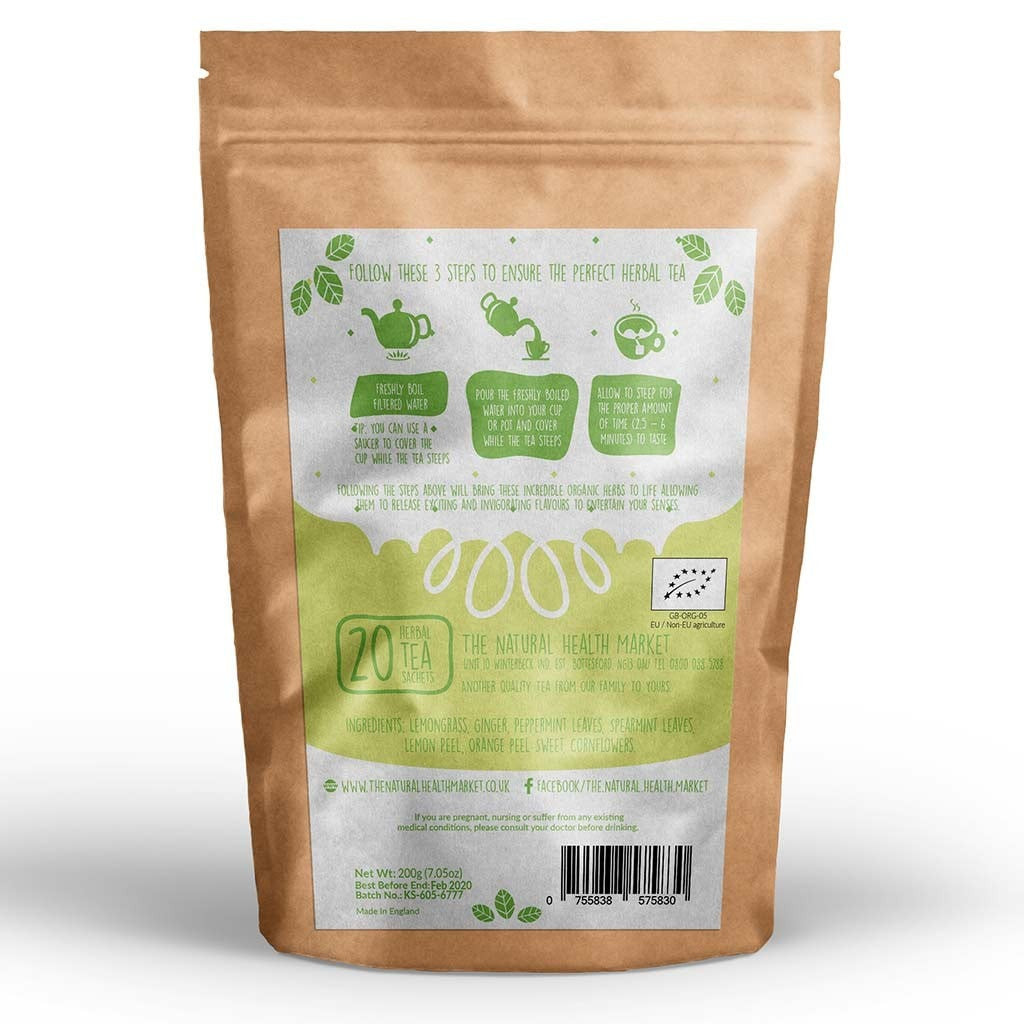 Organic ginger and lemongrass tea 20 Bags by The Natural Health Market