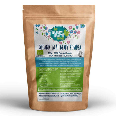 Organic Acai Berry Powder 100g by The Natural Health Market