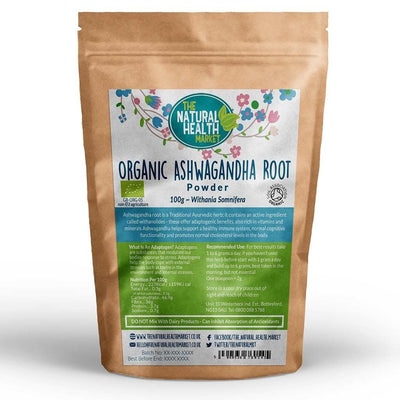 Organic Ashwagandha Root Powder 100g By The Natural Health Market