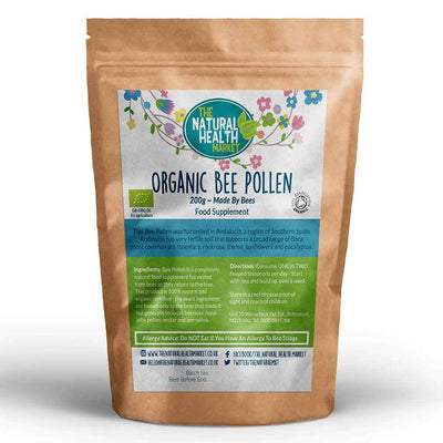Organic Bee Pollen Granules 200g Pack By The Natural Health Market