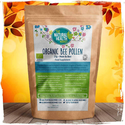 Organic Bee Pollen Granules 25g Pack By The Natural Health Market