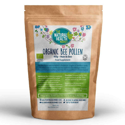 Organic Bee Pollen Granules 400g Pack By The Natural Health Market