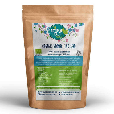 Organic bronze flaxseed 800g by The Natural Health Market