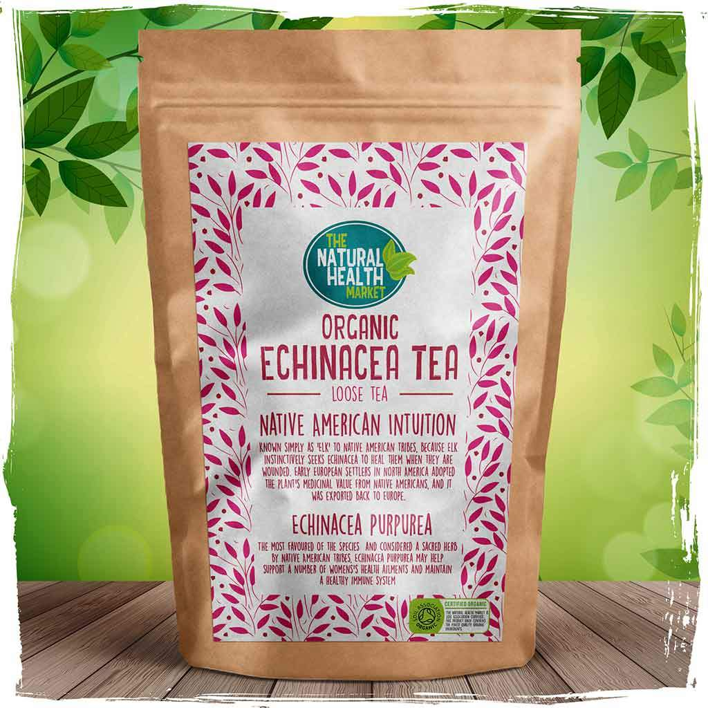 Organic echinacea loose tea by The Natural Health Market