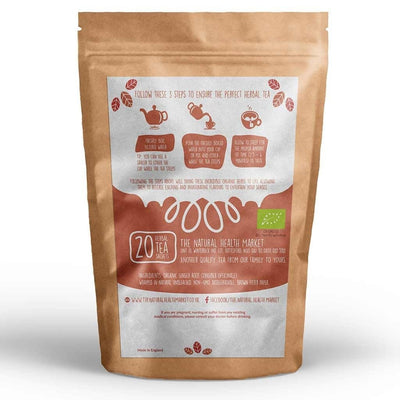 Organic ginger tea bags 20 by The Natural Health Market