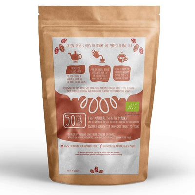 Organic ginger tea bags 50 by The Natural Health Market