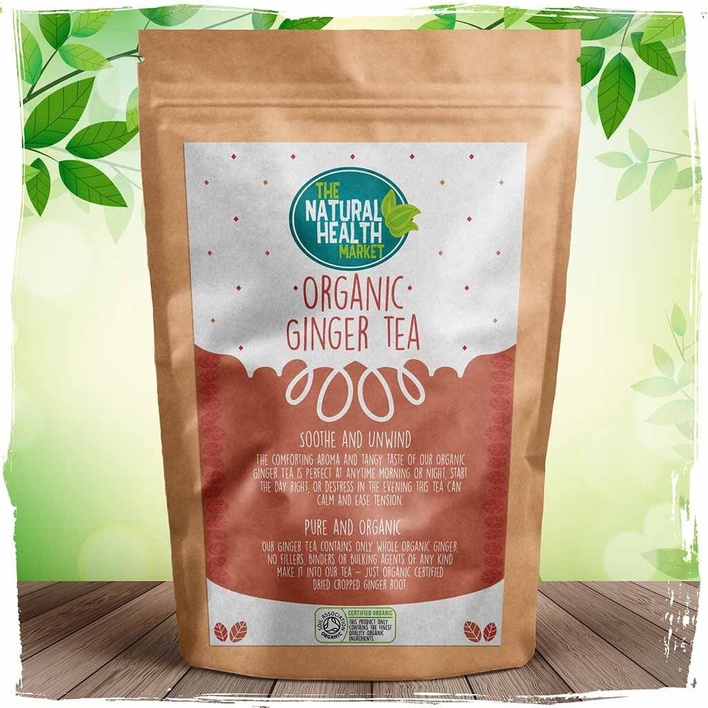 Organic ginger tea bags by The Natural Health Market