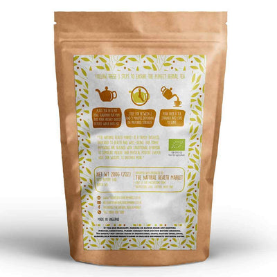 Organic ginger tea loose leaf 200g By The Natural Health Market