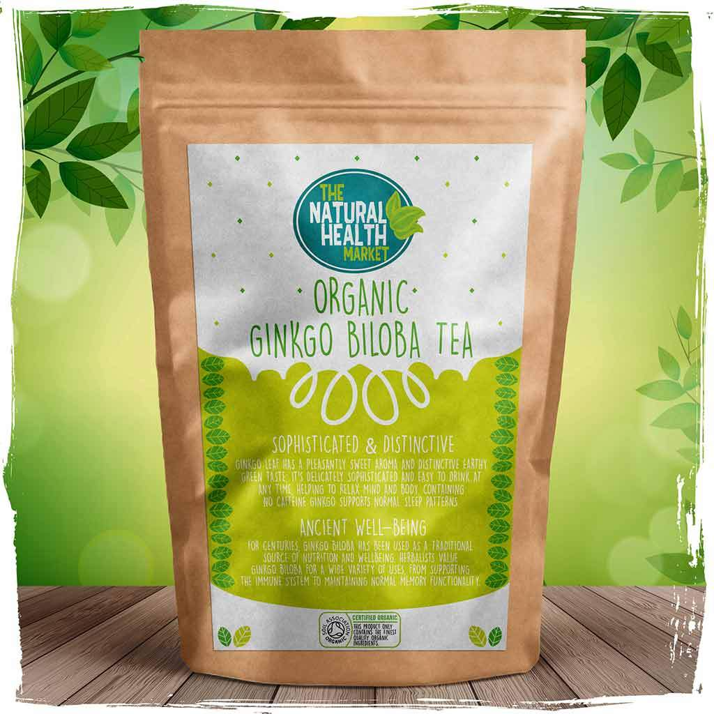 Organic Ginkgo Biloba Tea Bags By The Natural Health Market