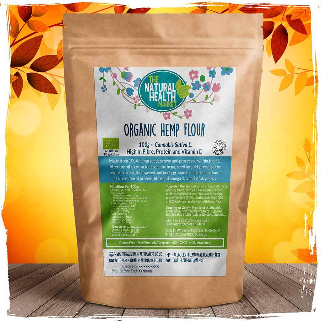 Organic hemp flour 100g By The Natural Health Market
