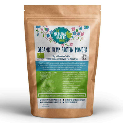 Organic Hemp Protein Powder 1kg Grown and Processed In The EU.