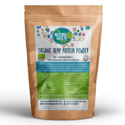 Organic Hemp Protein Powder 2kg Grown and Processed In The EU.