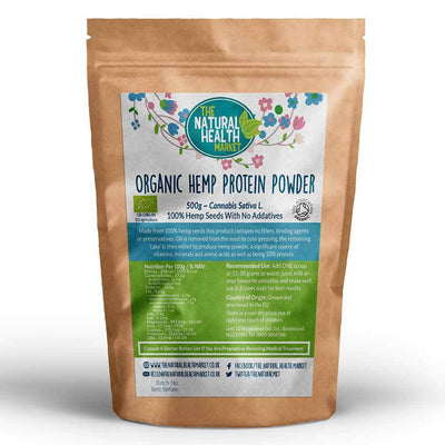 Organic Hemp Protein Powder 500g Grown and Processed In The EU.