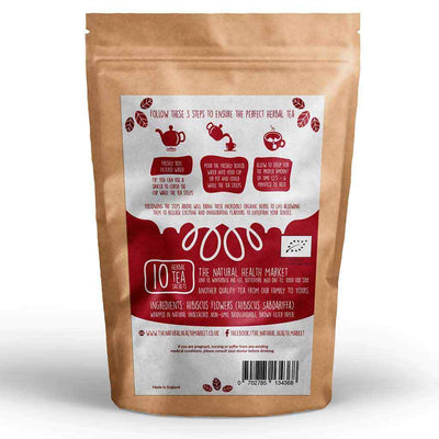Organic Hibiscus Tea 10 Bags by The Natural Health Market