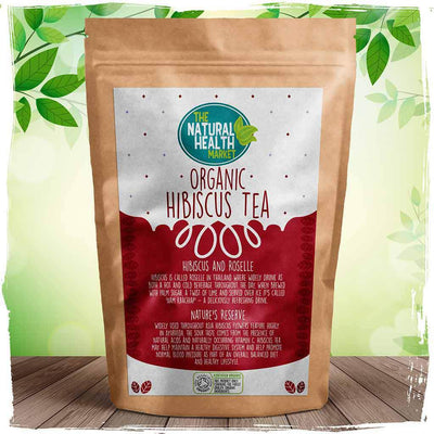 Organic hibiscus tea bags by The Natural Health Market
