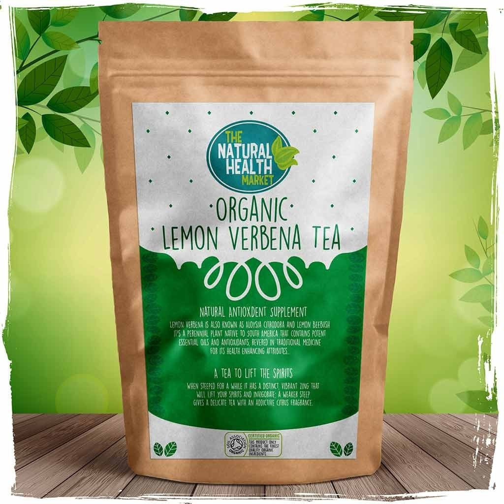Organic lemon verbena tea bags by The Natural Health Market