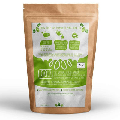 Organic Lemongrass Tea 100 Bags By The Natural Health Market