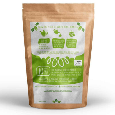 Organic Lemongrass Tea 10 Bags By The Natural Health Market