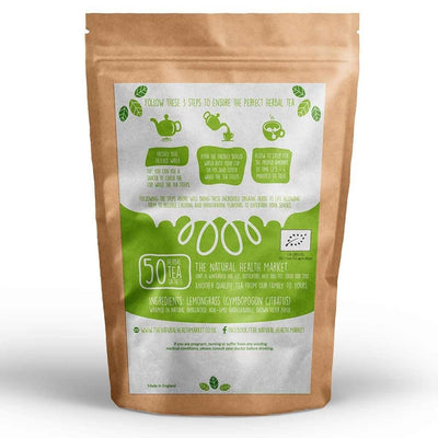Organic Lemongrass Tea 50 Bags By The Natural Health Market
