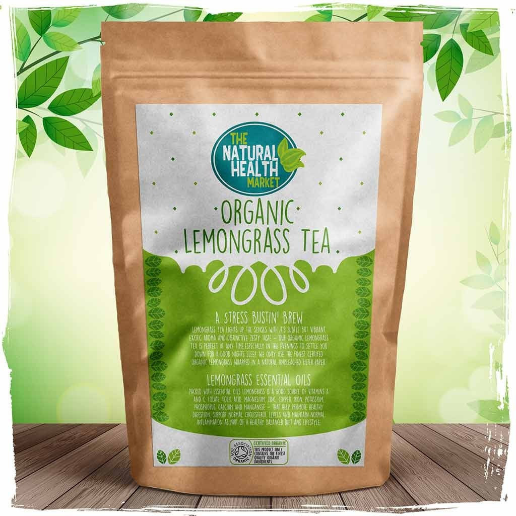 Organic Lemongrass Tea Bags By The Natural Health Market