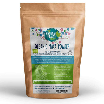 Organic Maca Root Powder 1kg By The Natural Health Market