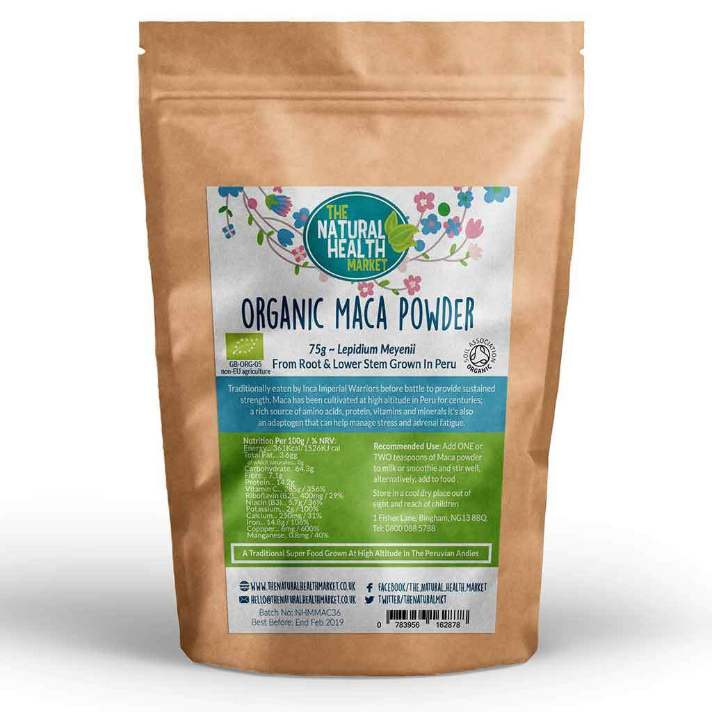 Organic Maca Root Powder 75g By The Natural Health Market