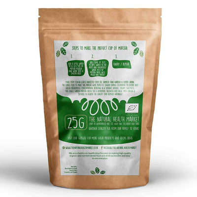 Organic Matcha Green Tea 25g By The Natural Health Market