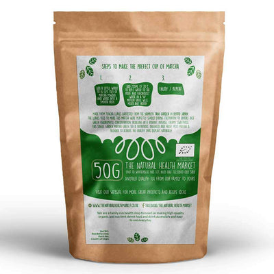 Organic Matcha Green Tea 50g By The Natural Health Market