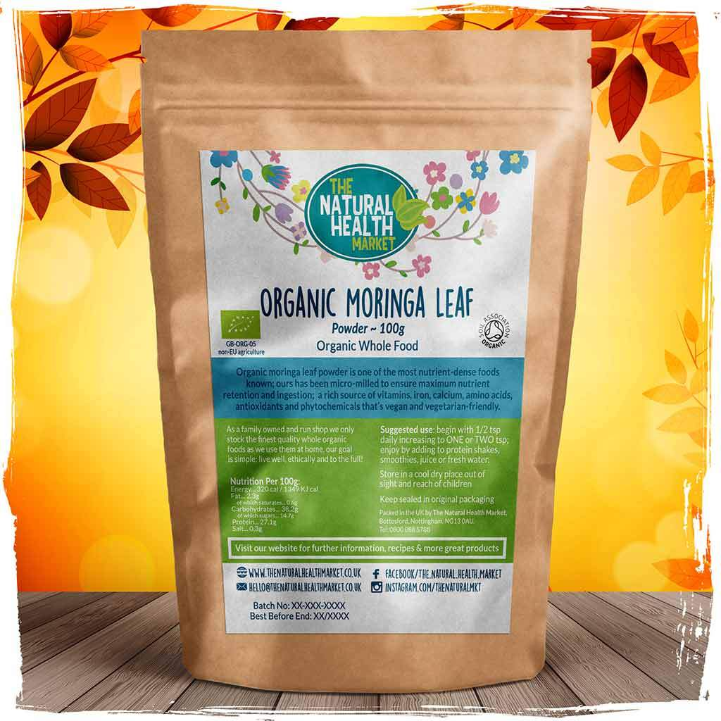 Organic Moringa Leaf Powder 100g By The Natural Health Market