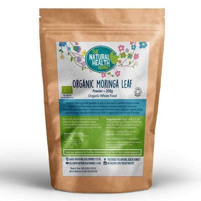 Organic Moringa Leaf Powder 200g By The Natural Health Market