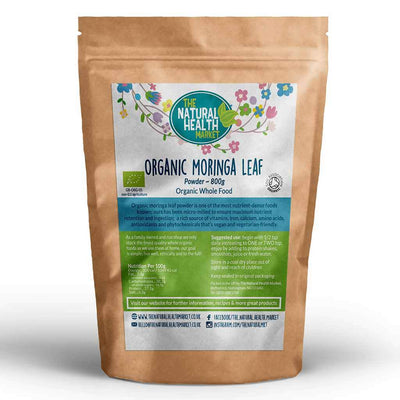 Organic Moringa Leaf Powder 800g By The Natural Health Market