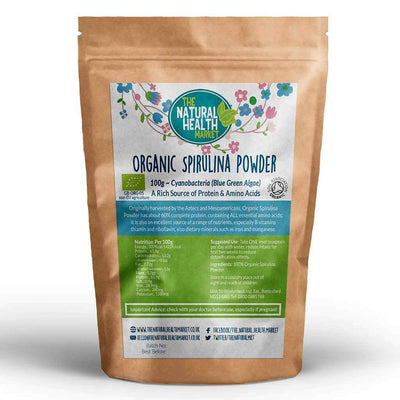 Organic Spirulina Powder 100g by The Natural Health Market