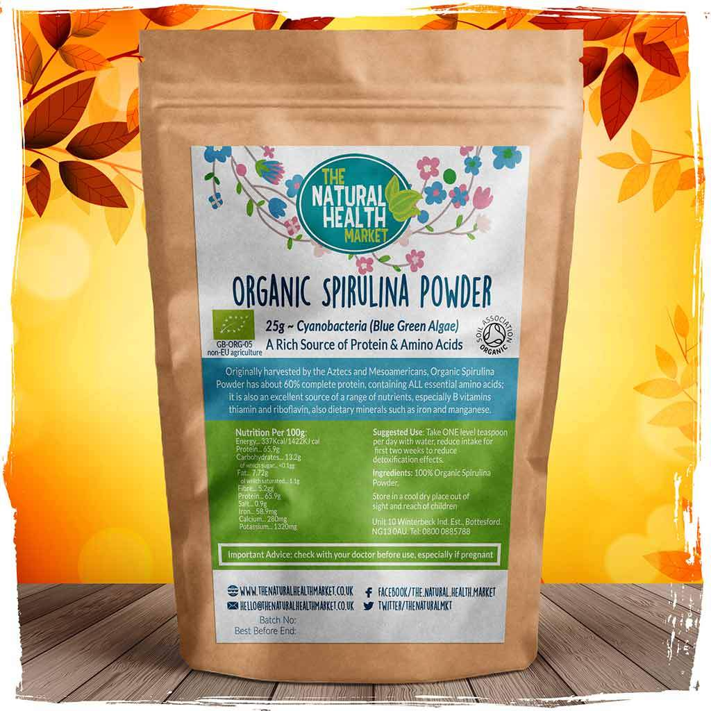 Organic Spirulina Powder 25g by The Natural Health Market