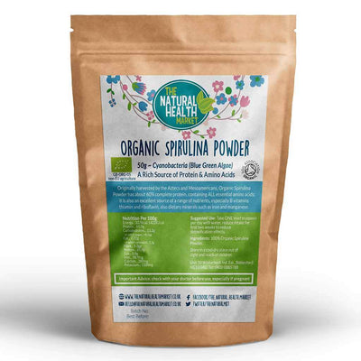 Organic Spirulina Powder 50g by The Natural Health Market