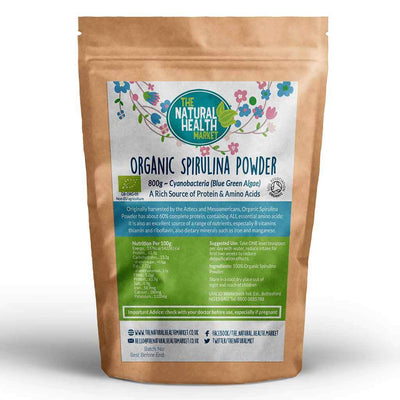 Organic Spirulina Powder 800g by The Natural Health Market