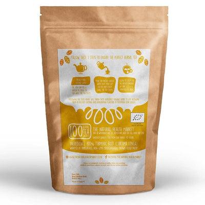 Organic Turmeric Tea Bags 100 - By The Natural Health Market