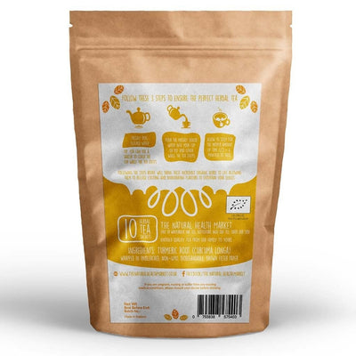 Organic Turmeric Tea Bags 10 - By The Natural Health Market